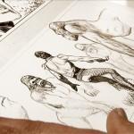 Disegnatori al lavoro su un albo di Zagor