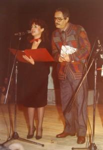 Rosy Gangemi e Nino Manfredi in Artegioco 1984 Palasport Messina