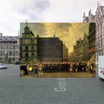 Anversa nell'opera datata 1643 di David Teniers II
