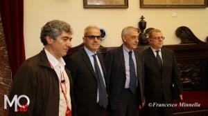 Da sinistra: Domenico Manna, Giovanni Foti, Gaetano Cacciola, Gian Piero Fantini
