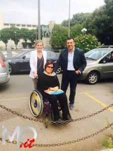 Monica Subba con i consiglieri Faranda (Ncd) e Cucinotta (PD)