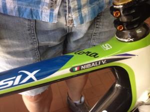 La bicicletta della Vuelta 2010, custodita da Michele Bonasera