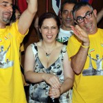 Festeggiamenti Nibali durante arrivo tappa (10)
