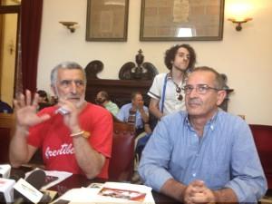 Da sinistra, Accorinti e De Cola