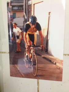 Michele Bonasera in bici