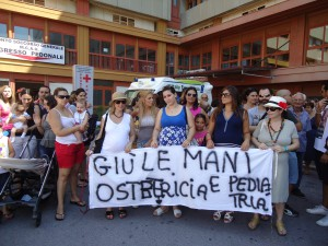 protesta Papardo su chiusura Ostetricia_messinaora