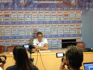 Coach Griccioli (Upea) nella conferenza stampa post-gara.