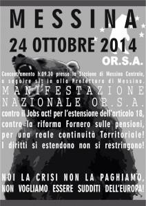 orsa sciopero 24 ottobre 2014