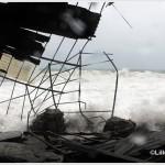 Galati Marina la mareggiata del 7 novembre 2014 invade l'area del campo di calcio  (3)