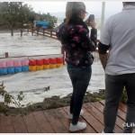 Galati Marina la mareggiata del 7 novembre 2014 invade l'area del campo di calcio  (8)