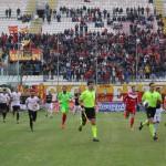 Messina vs Catanzaro: Ingresso in campo delle squadre