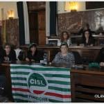 Presidio della Cisl Fp in sala consiliare