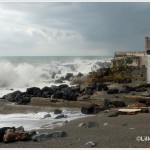 Santa Margherita la mareggiata del 7 novembre 2014 invade la S.S. 114 (5)
