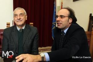Accanto all'assessore Gaetano Cacciola, il presidente dell'Amam Alessandro Anastasi