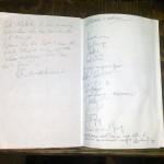 Libro con le firme dei visitatori