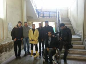 visita al 4° quartiere di Stefania Petyx - battaglia della circoscrizione contro le barriere architettoniche