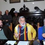 Da sinistra, Cucinotta, Accorinti e Pino