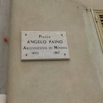 Targa dedicata a monsignor Paino