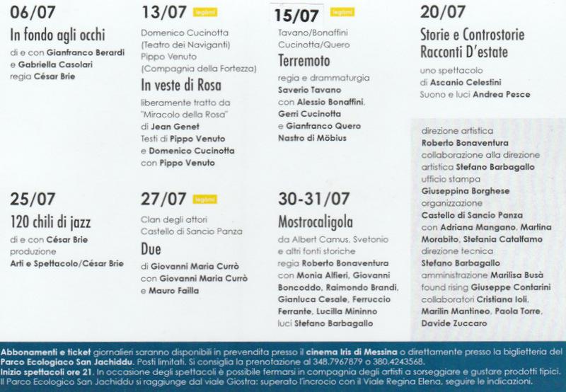 Forte Teatro Festival 2015 - calendario
