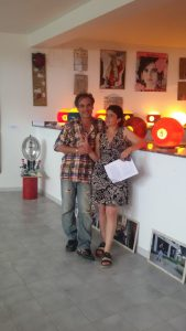 I curatori Gianfranco Molino e Linda Schipani