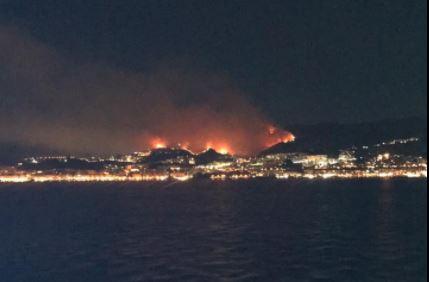 Gli incendi a Messina
