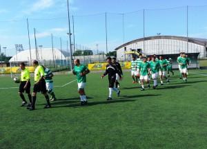 Ingresso in campo Centro Vantage calcio a 7