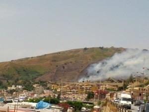 incendio colline pace
