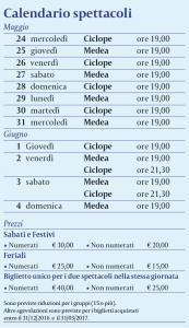 Calendario spettacoli