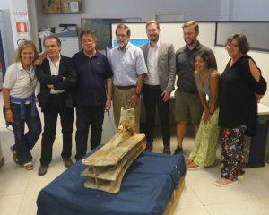 Foto di gruppo funzionari della Soprintendenza del Mare e ricercatori della RPM Nautical Fundation